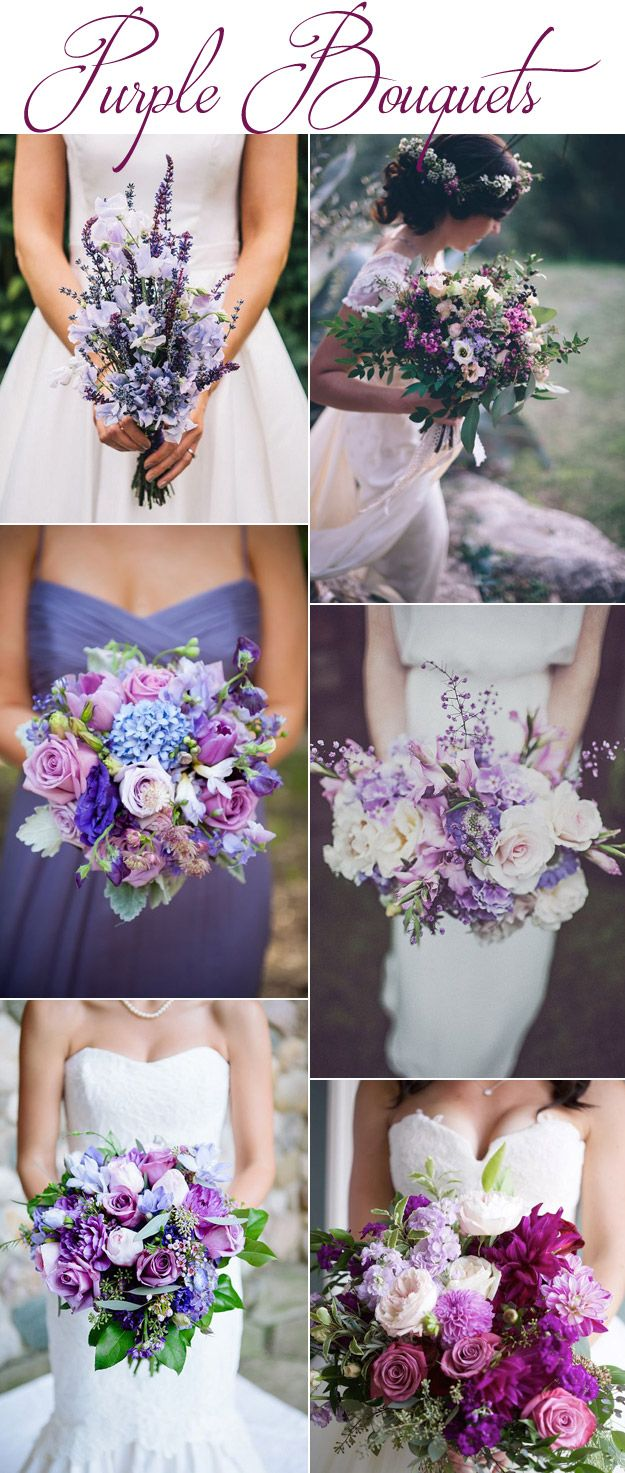 ideas to choose the beauty and elegance of white and purple wedding flowers 1 - Ideas to Choose the Beauty and Elegance of White and Purple Wedding Flowers