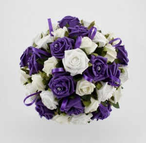 ideas to choose the beauty and elegance of white and purple wedding flowers - Ideas to Choose the Beauty and Elegance of White and Purple Wedding Flowers
