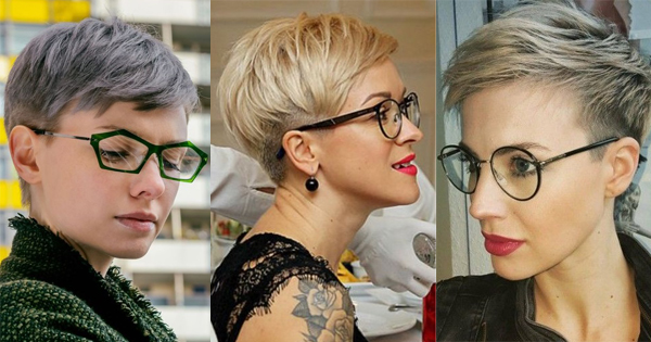 The modern 10 hairstyles for beautiful women wearing glasses