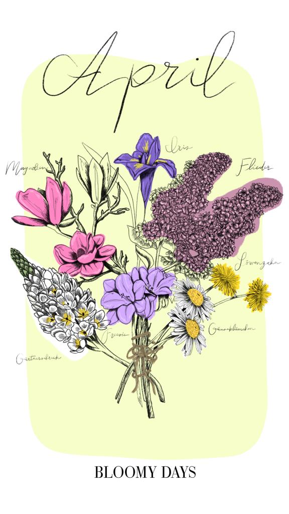 Seasonal Calendar April Bloomy Blog - Seasonal Calendar April - Bloomy Blog