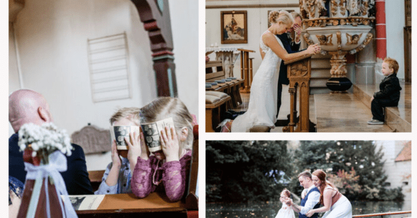 The most beautiful wedding photos with children