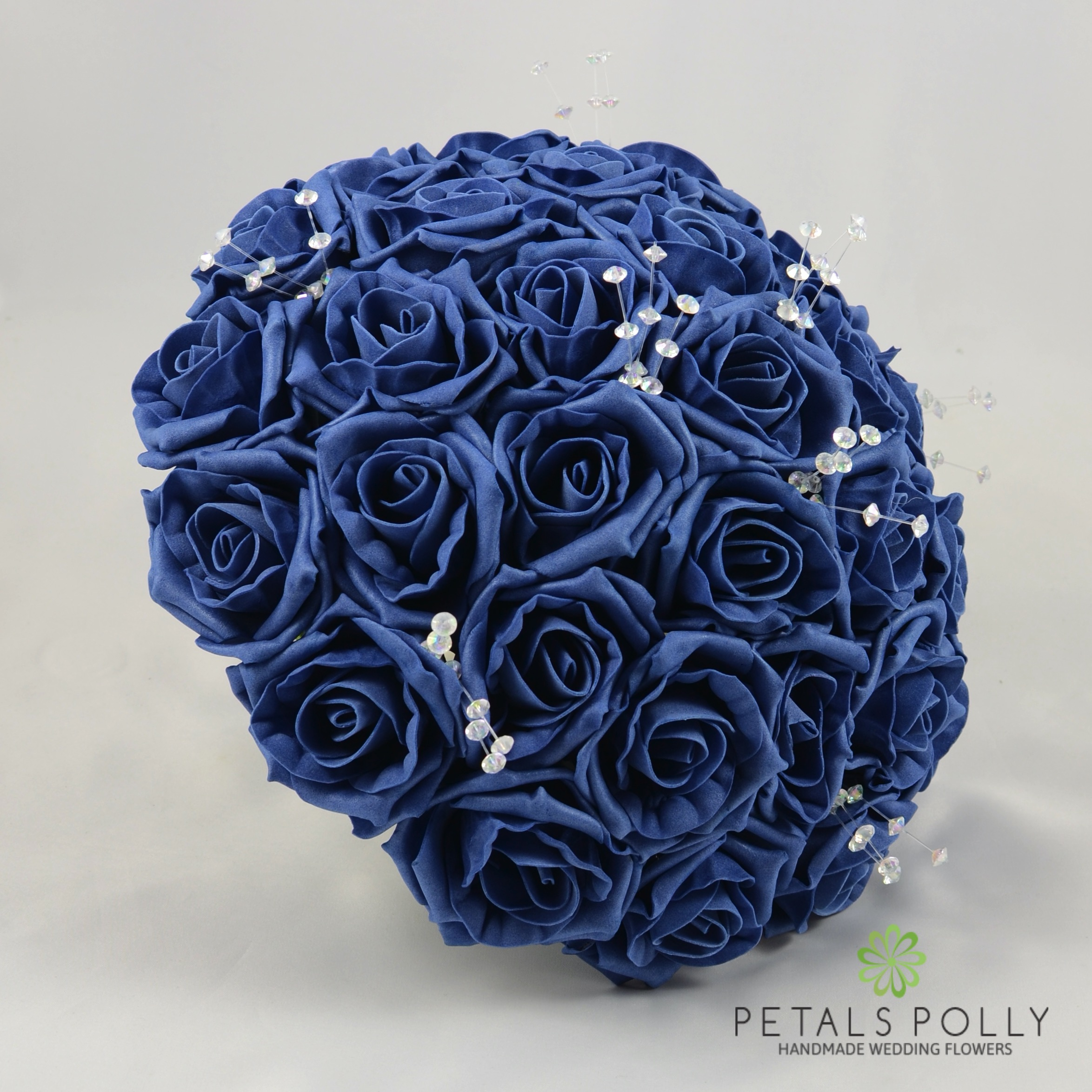 choose blue roses wedding bouquets for your wedding 2 - Choose Blue Roses Wedding Bouquets for Your Wedding