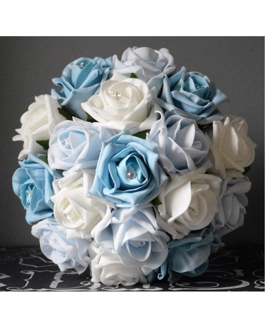 choose blue roses wedding bouquets for your wedding 3 - Choose Blue Roses Wedding Bouquets for Your Wedding