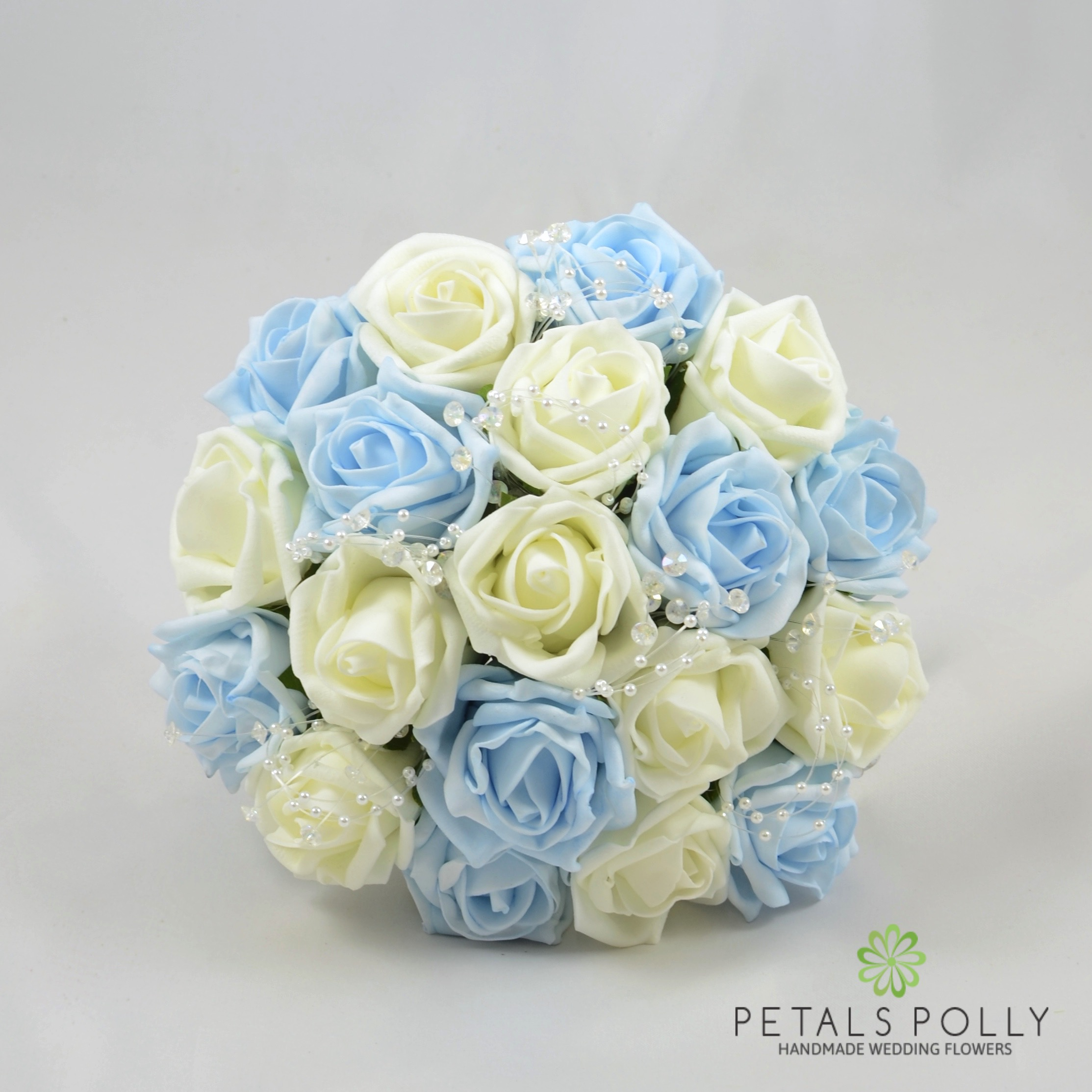 choose blue roses wedding bouquets for your wedding 8 - Choose Blue Roses Wedding Bouquets for Your Wedding