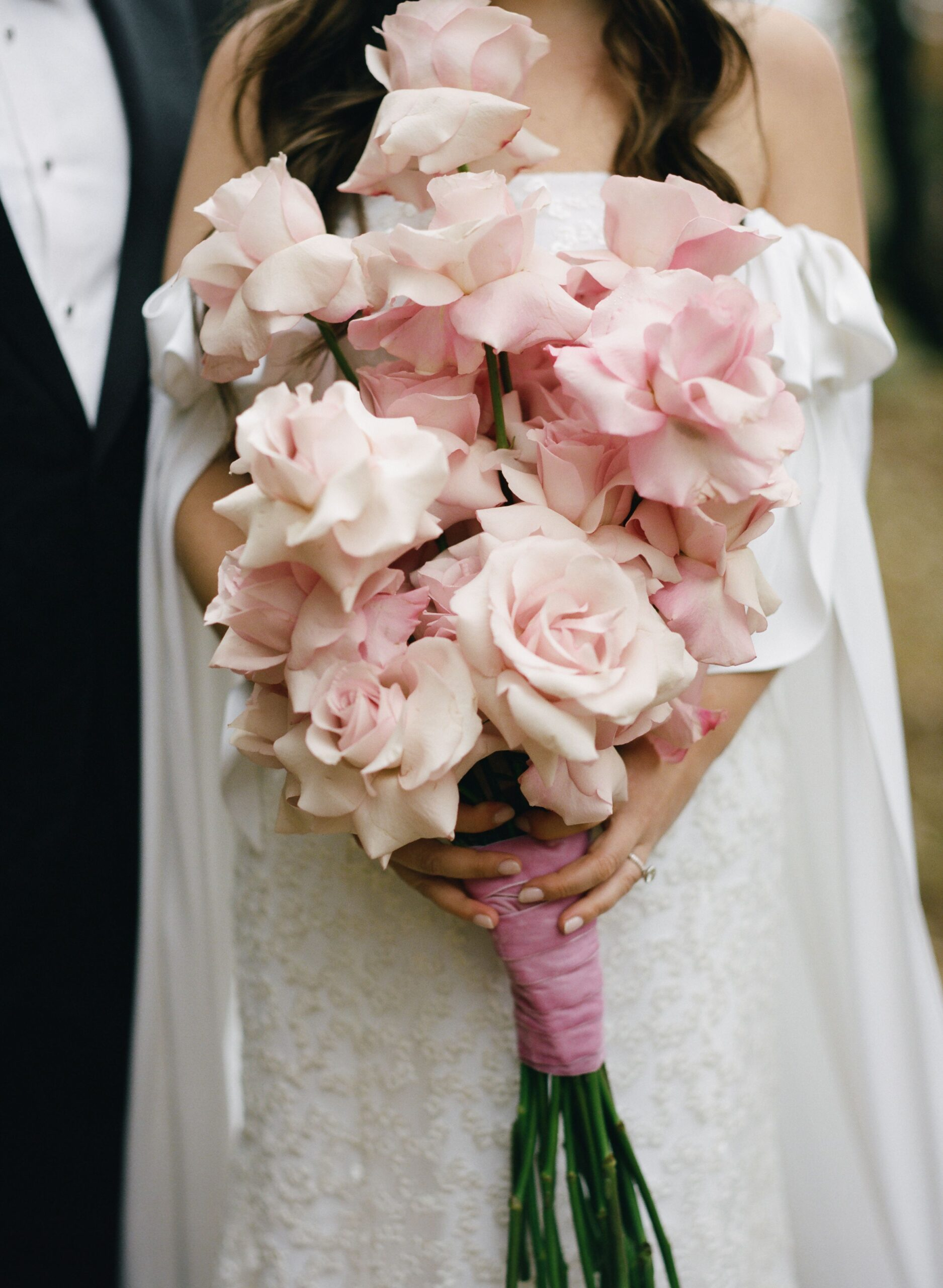 choose pink roses wedding bouquet for your wedding 1 1 scaled - Choose Natural Hand Tied Wedding Bouquets for the Wedding