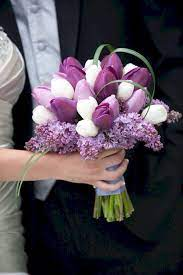 choose purple tulip wedding bouquets for your wedding 1 - Choose Purple tulip wedding bouquets for Your Wedding