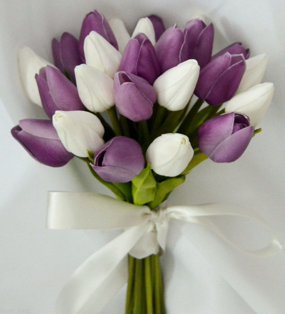 choose purple tulip wedding bouquets for your wedding 2 - Choose Purple tulip wedding bouquets for Your Wedding