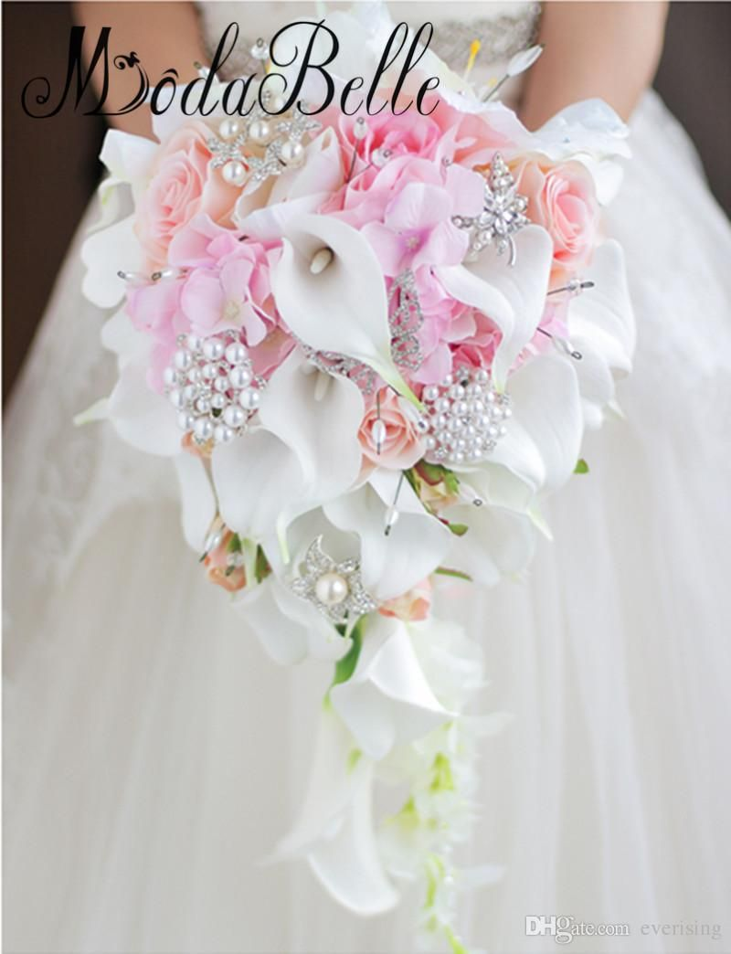 ideas for you to choose lilies wedding bouquet 6 1 - Choose Artificial Hand-tied Wedding Bouquet for the Wedding