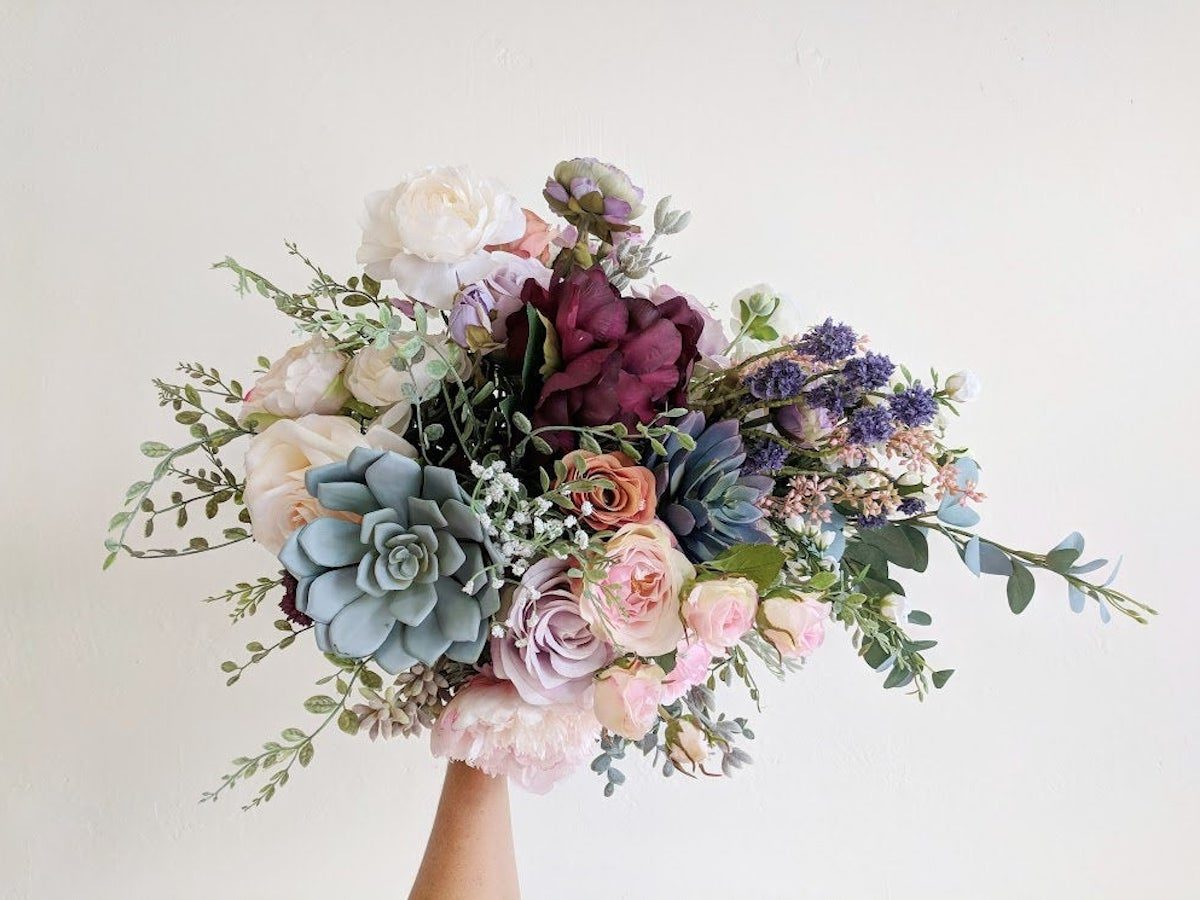 silk wedding bouquets to choose for the classy bridal 7 - Silk Wedding Bouquets to Choose for The Classy Bridal